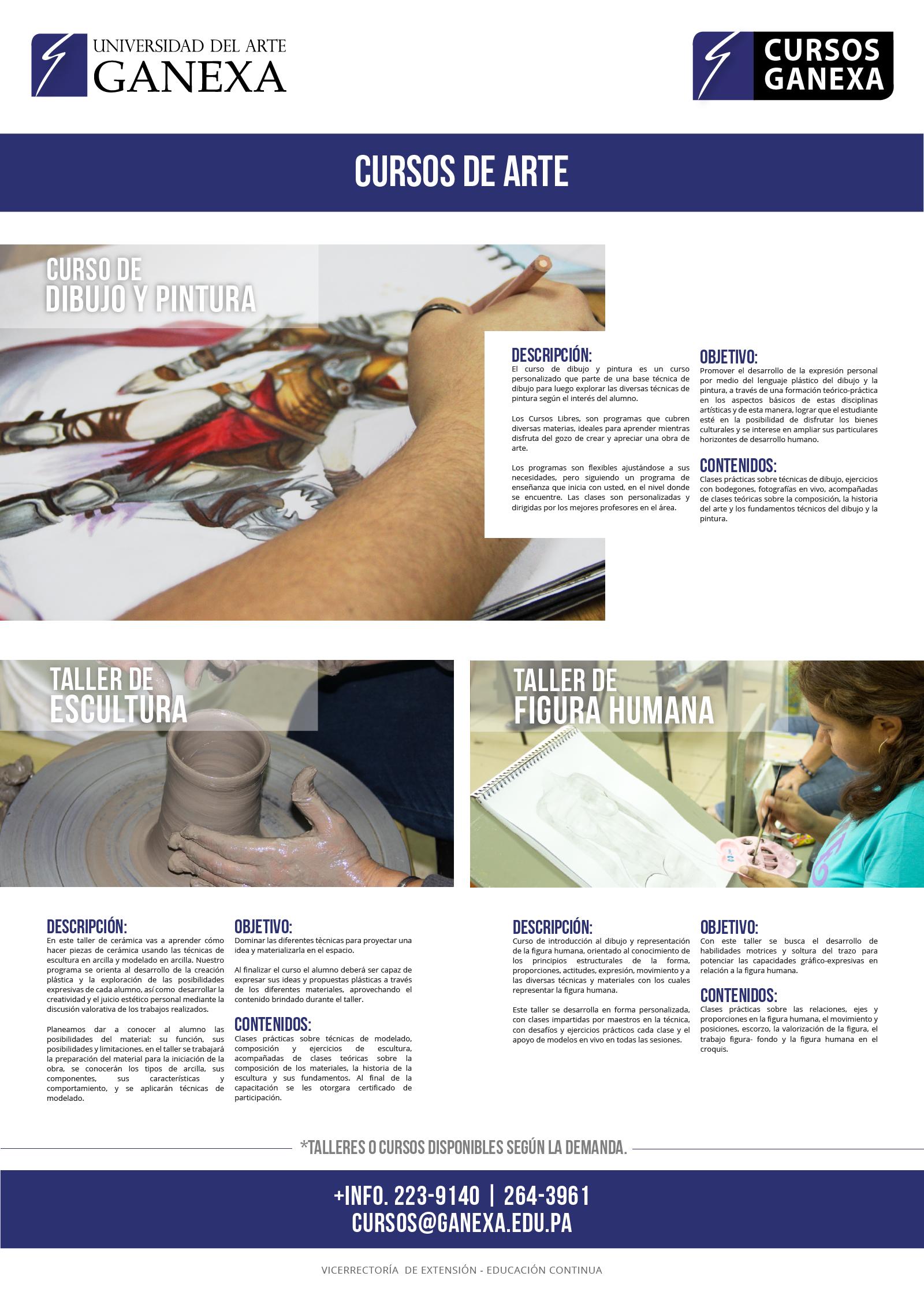 Cursos de arte universidad del arte ganexa for Universidad de arte