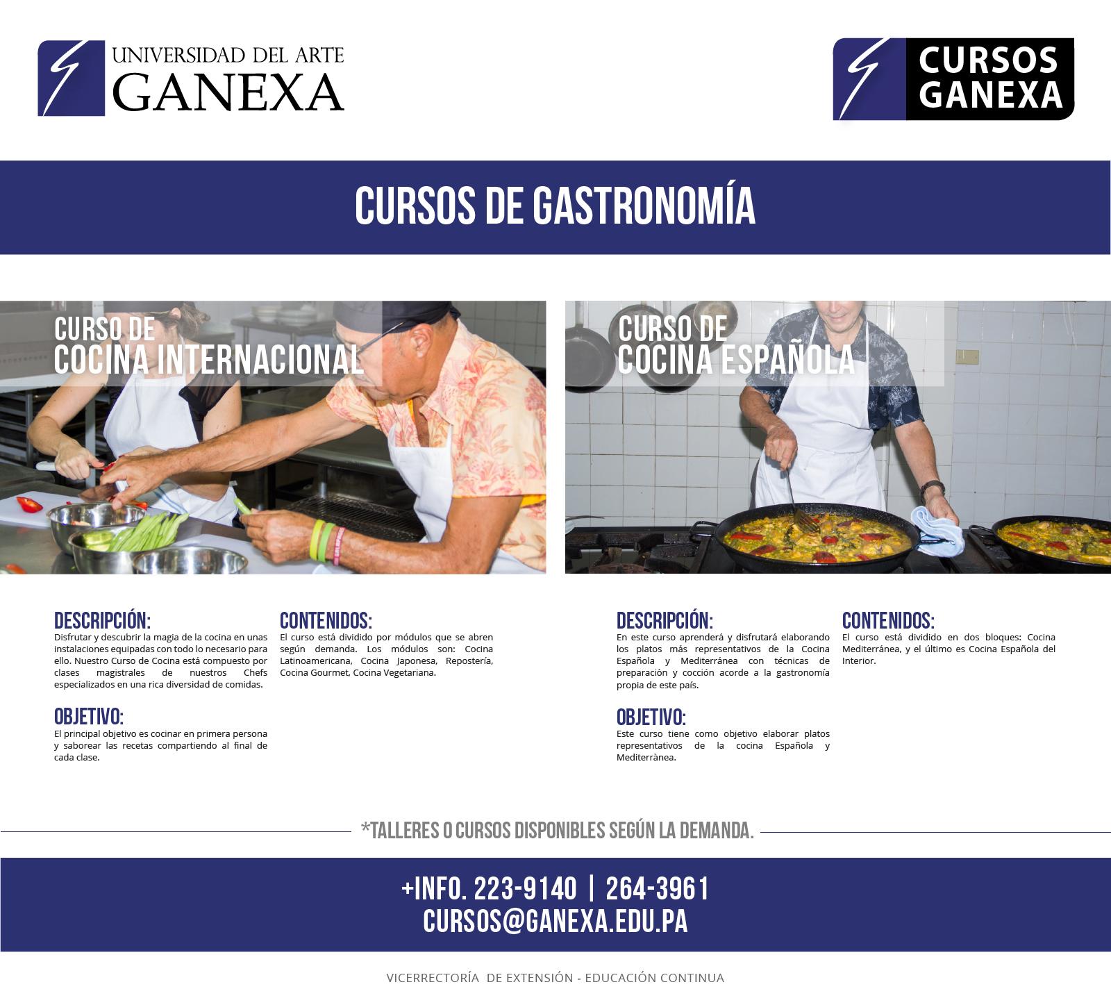 Cursos de cocina universidad del arte ganexa - Cursos de cocina sabadell ...